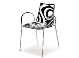 Technopolymer chair with arms Wave