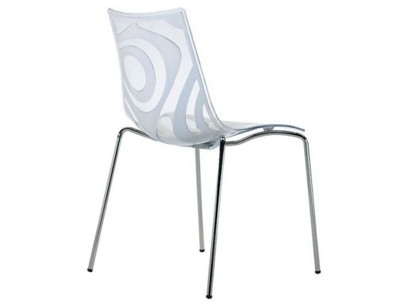 Technopolymer chair with 4 legs Wave