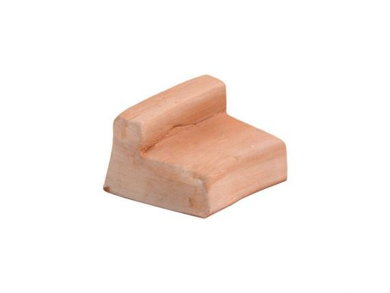 Round Foot Wedge 084 terracotta foot