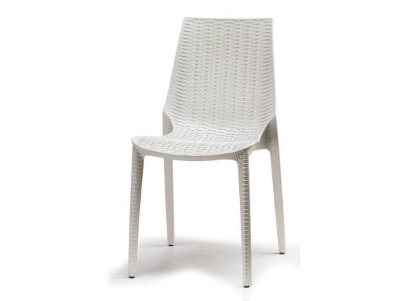 Crossed polypropylene chair Lucrezia