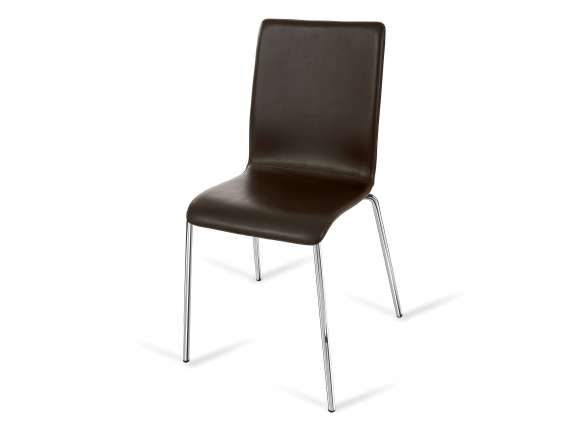 Cortina High chair in bonded leather or genuine leather