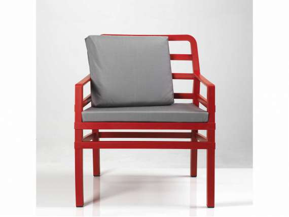 Aria Armchair RED in polypropylene