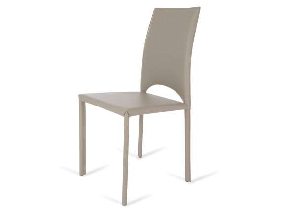 Bassano chair covered in leather or artificial leather