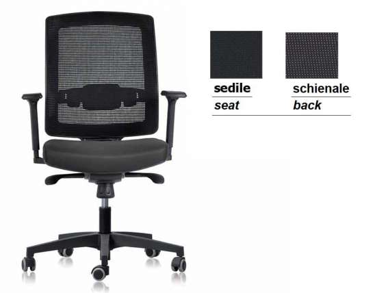Square office armchair