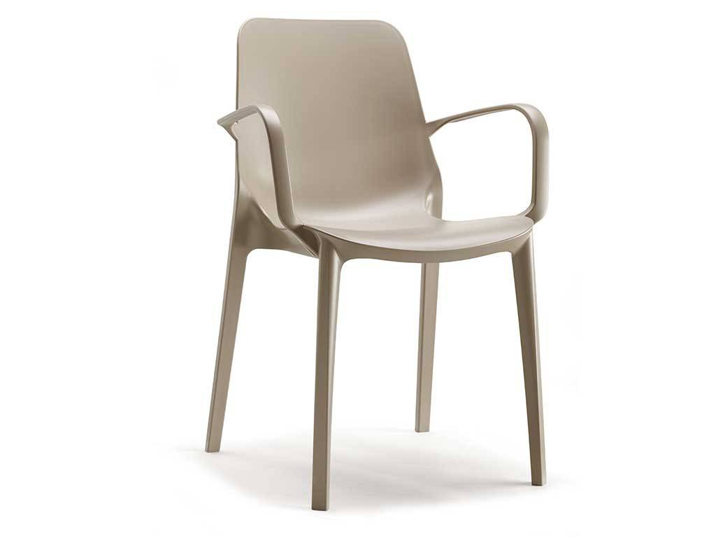 Chair In Technopolymer With Armrests Ginevra