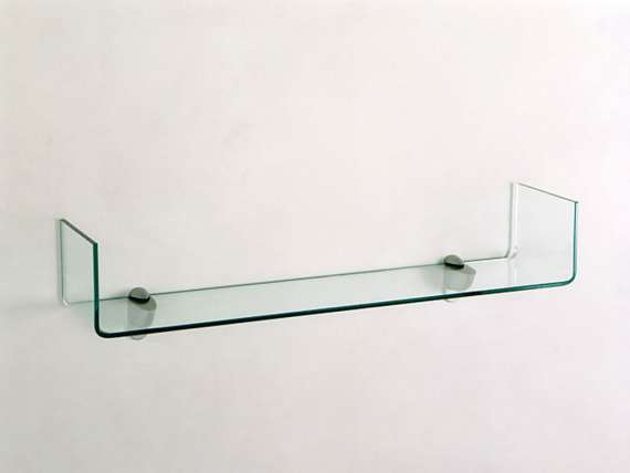 Shelf in curved glass Handle