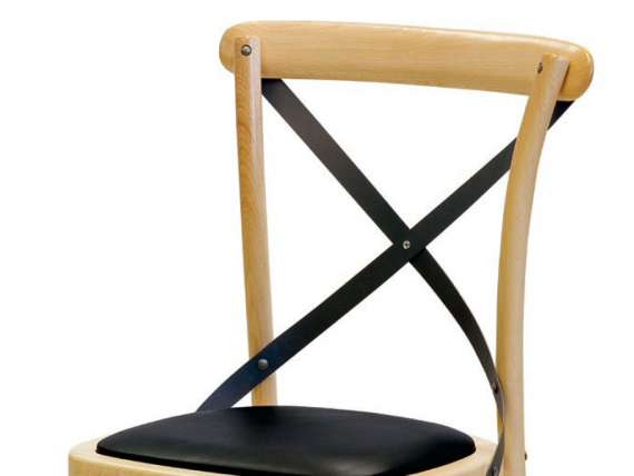 Vintage chair in wood and artificial leather Ciao Antra