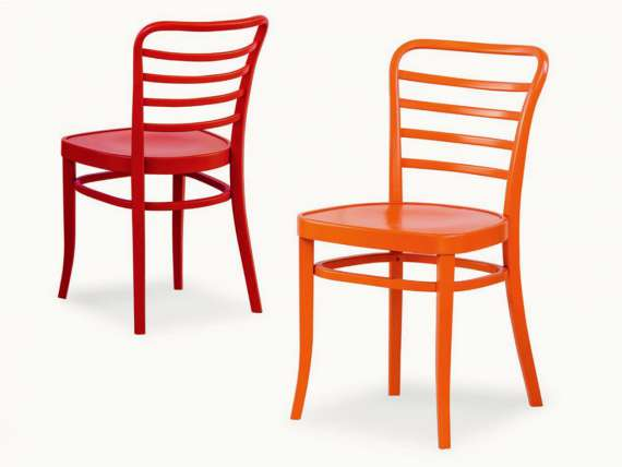 07 Sedia modern chair in painted wood