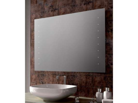 ELLEN rectangular mirror neon for bathroom