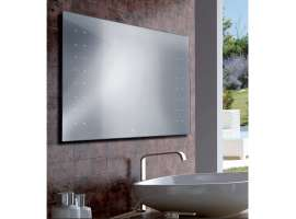 EMILY rectangular mirror neon for bathroom