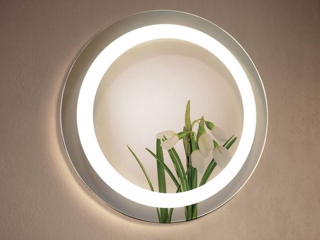 round mirror led for bathroom miami. Black Bedroom Furniture Sets. Home Design Ideas