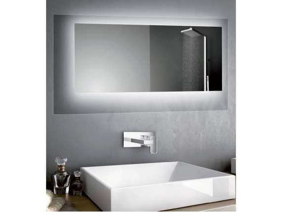 CRYSTAL rectangular or square mirror Led for bathroom