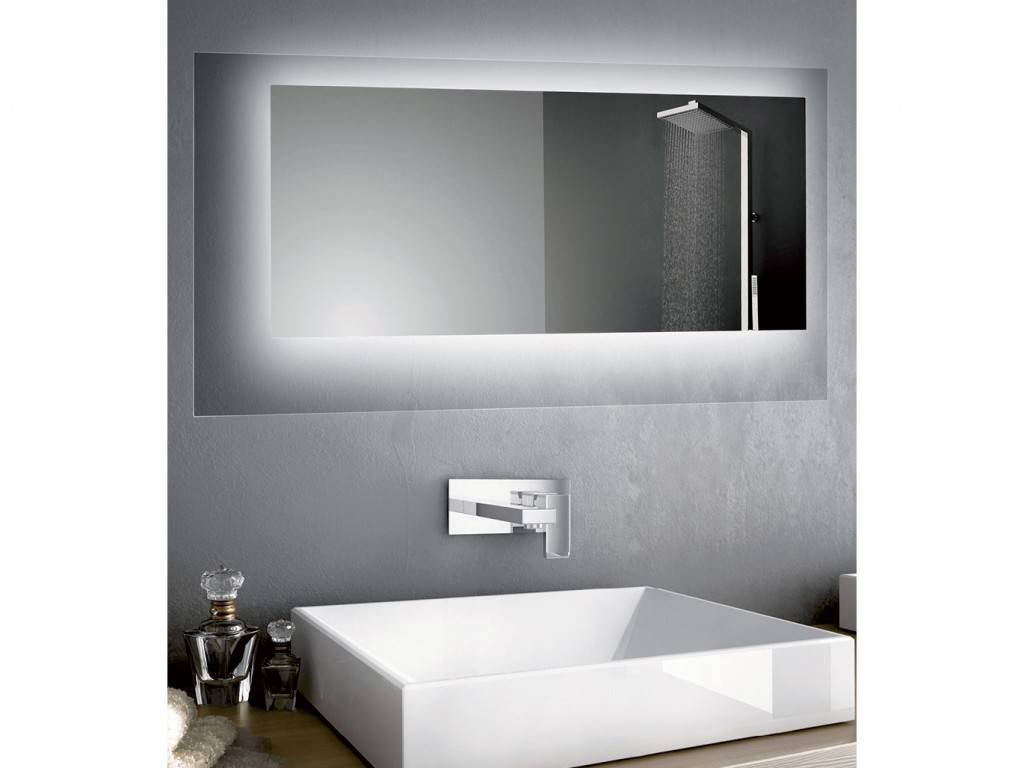 miroir salle de bains led rectangulaire ou carr crystal. Black Bedroom Furniture Sets. Home Design Ideas