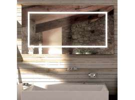 FRAME rectangular or square mirror Led for bathroom