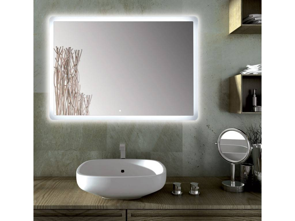 miroir salle de bains led rectangulaire sole. Black Bedroom Furniture Sets. Home Design Ideas