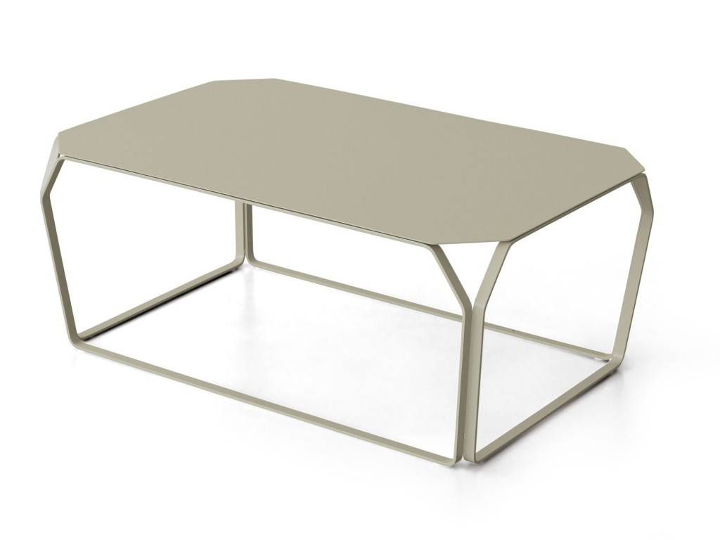 Tray 3 High Rectangular Coffee Table In Colored Metal