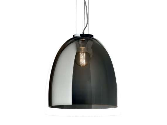 Eva hanging lamp in smoked glass