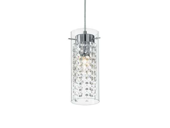 Iguazù SP1 hanging lamp in glass and pendants
