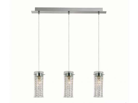 Iguazù SP3 hanging lamp in glass and pendants
