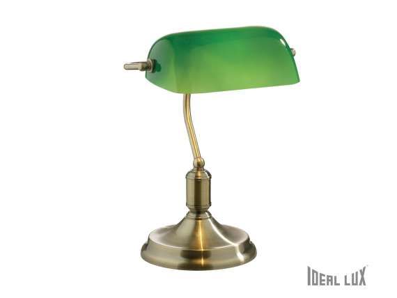 Lawyer  table lamp with metal structure