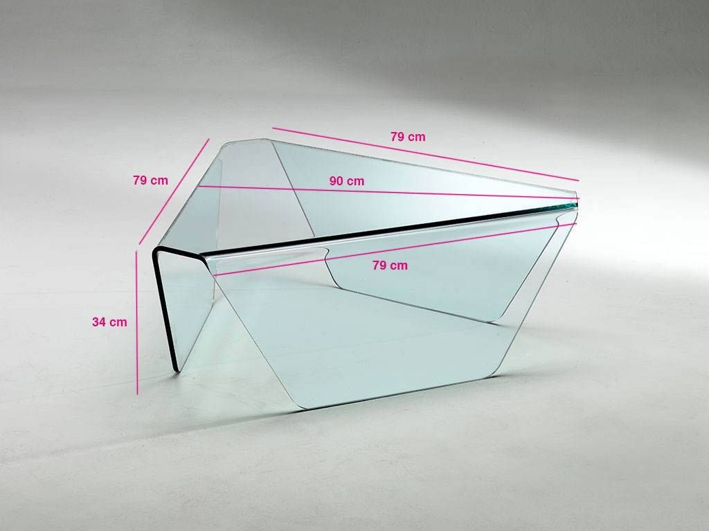 table in curved glass Tripod