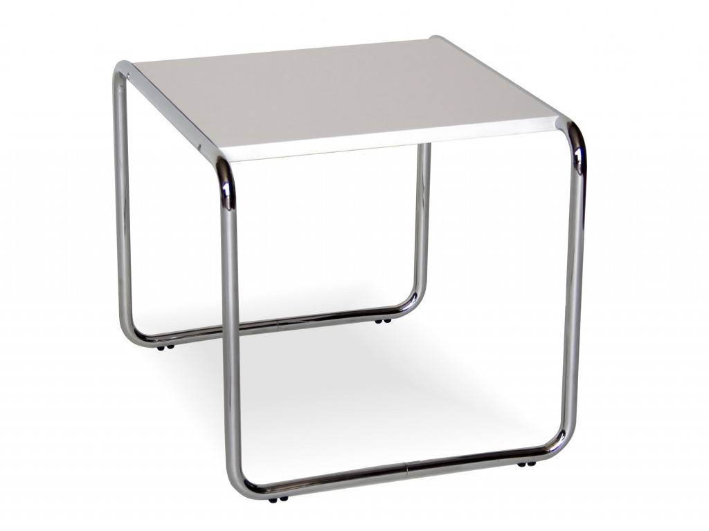laccio marcel breuer metal small table with laminated top. Black Bedroom Furniture Sets. Home Design Ideas
