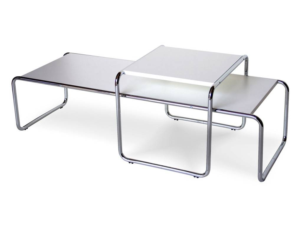 Laccio marcel breuer metal small table with laminated top marcel breuer coffee table in metal and laminate top geotapseo Images