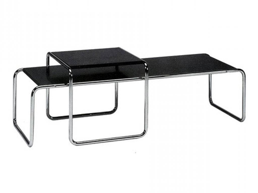 laccio marcel breuer tischchen aus metall und gewalzter platte. Black Bedroom Furniture Sets. Home Design Ideas