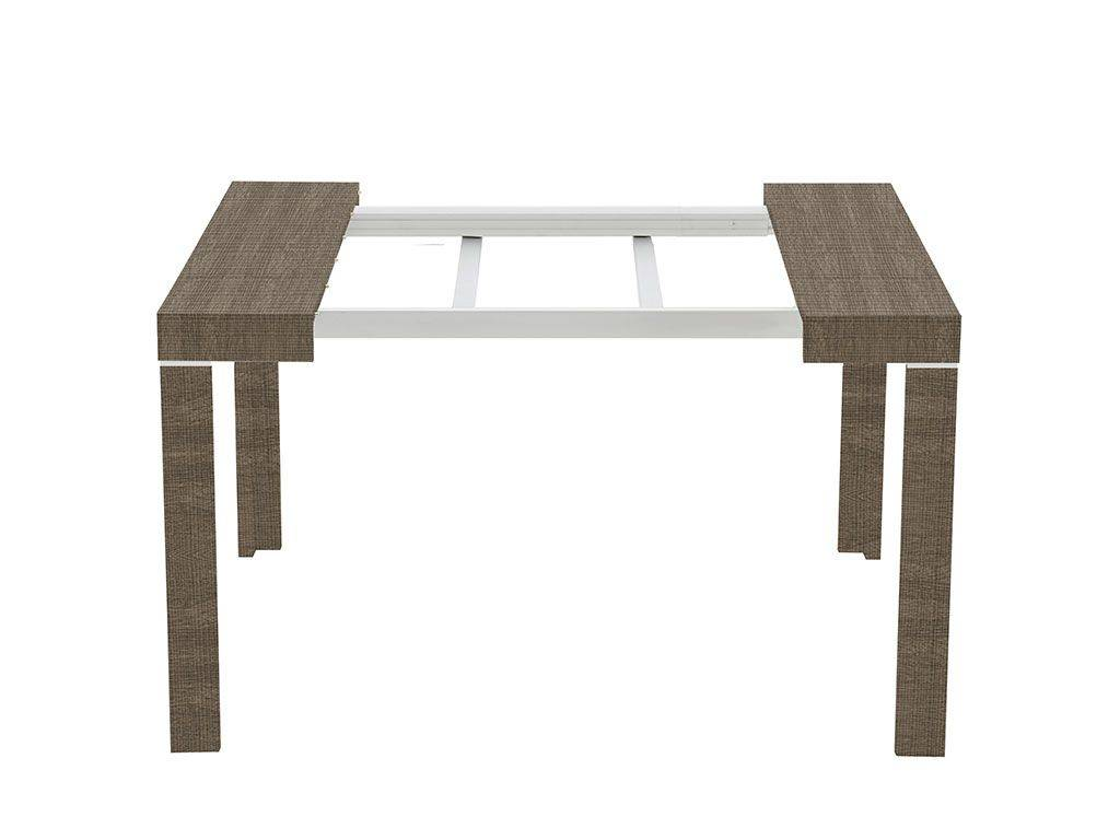 Table a rallonge console maison design for Table console extensible rallonges incorporees