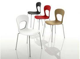 Plastic chair in technopolymer with metal frame BLOG