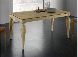 ROMEO LEGNO Table à rallonges en bois