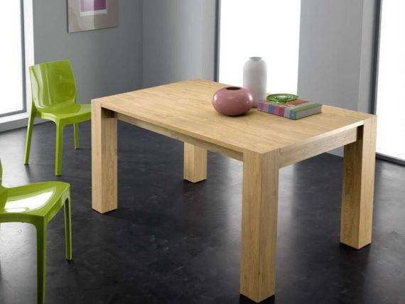 PLUTONE Extendible table in wood