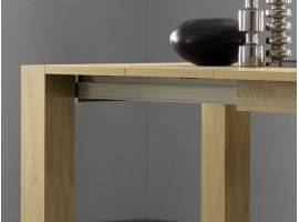 Extendible table in wood PLUTONE