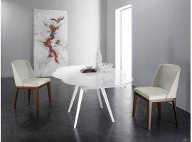 Extendible round table in glass ARGO