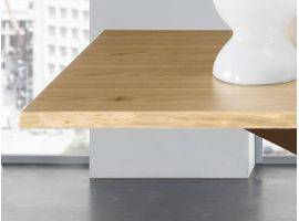 Table in wood with metal base MIKADO LEGNO