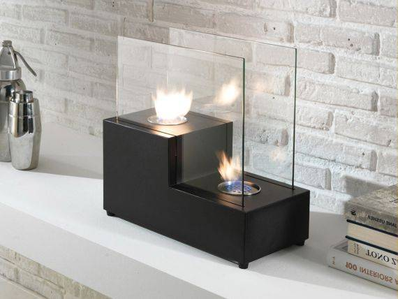 Two step table fireplace