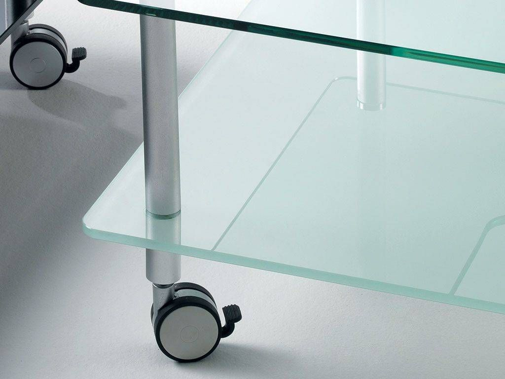 ... Glass Coffee Table With Wheels Hole