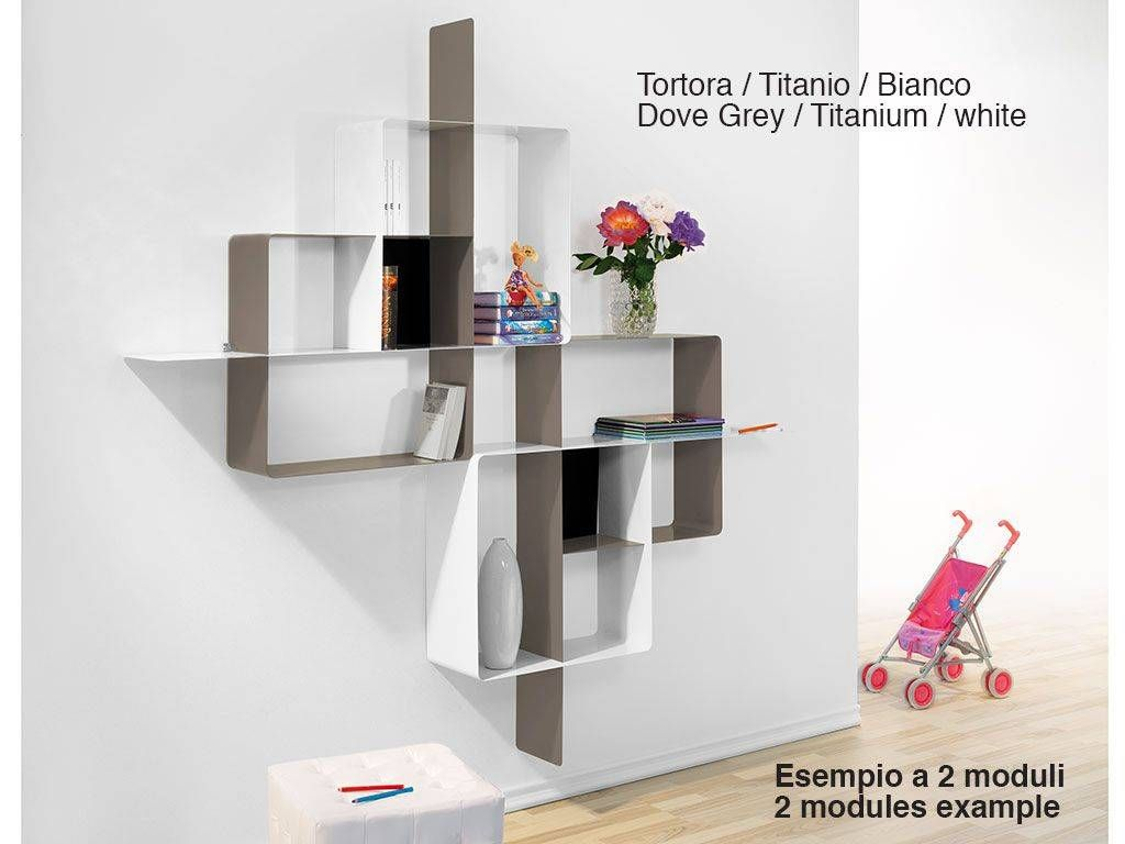 mondrian biblioth que moderne modulaire. Black Bedroom Furniture Sets. Home Design Ideas