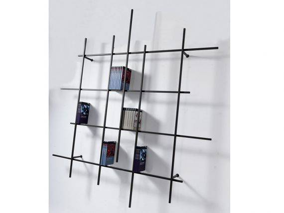 LIBRA 2 METALLO Bookcase with steel frame and metal storages