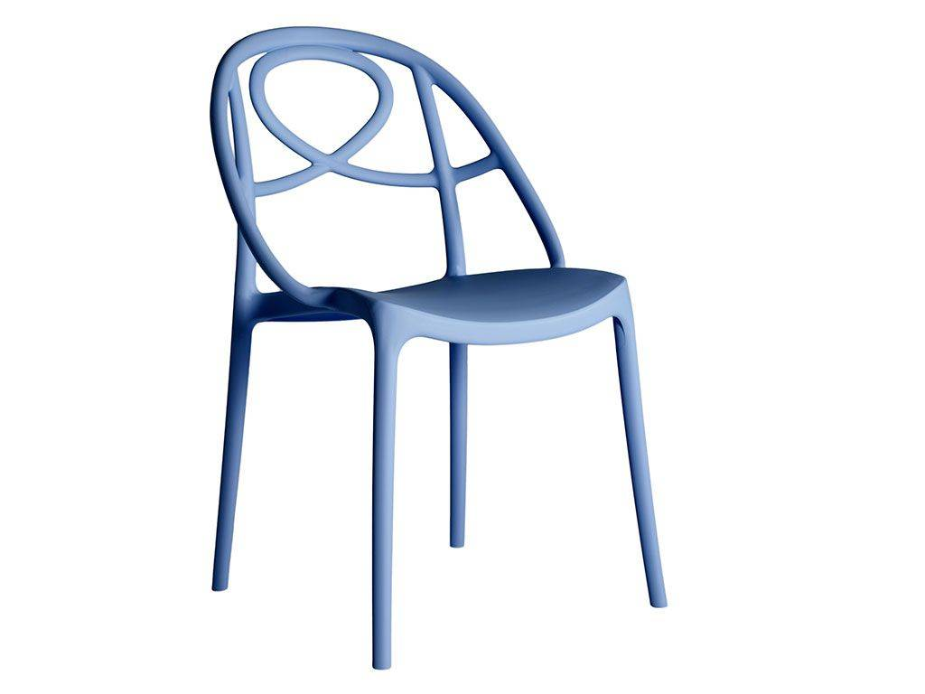 garden chair in colored plastic etoile