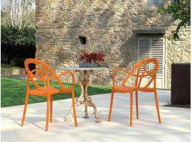 Garden armchair in colored plastic Etoile P