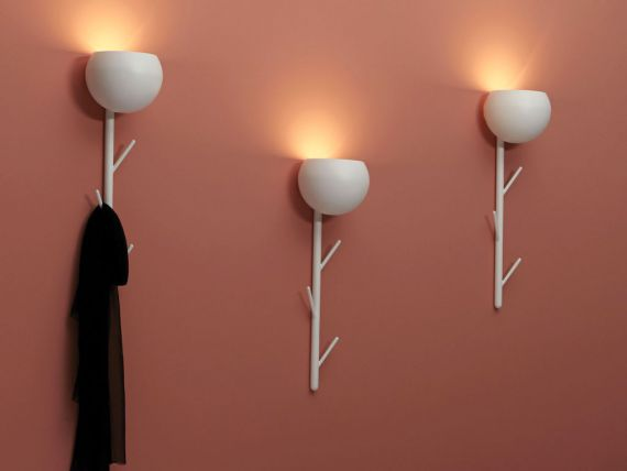 Wall lamp with coat hanger CAPPERO