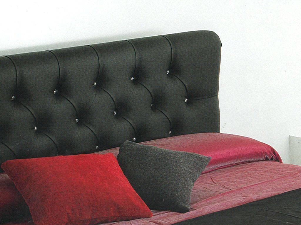 aurora lit rembourr en eco cuir. Black Bedroom Furniture Sets. Home Design Ideas