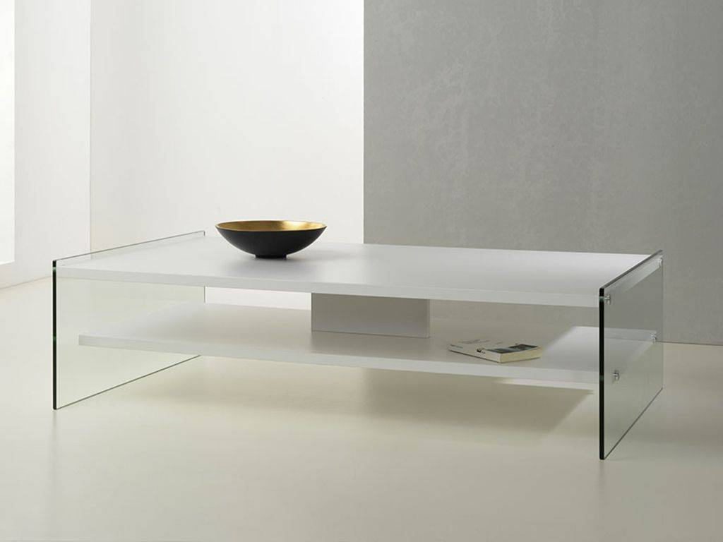 Table basse en verre et bois maxim - Table basse en verre but ...