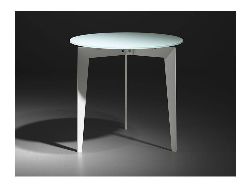 Round Table In Glass And Steel Nordic
