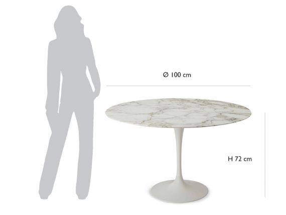 Round table Tulip Saarinen diameter 100