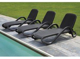 Sunbed CHARCOAL with armrests Alfa