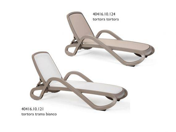 Sunbed DOVE GREY with armrests Alfa