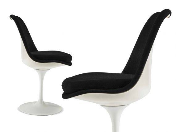 Chair Tulip Saarinen with coated seatback