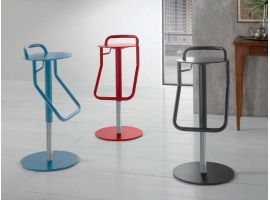 Stool in lacquered metal Skin